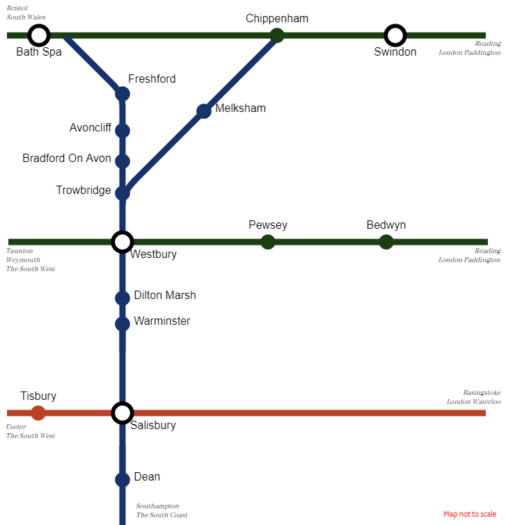 Wiltshire Rail Network Map